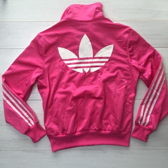 d129158660c adidas Jackets   Blazers - adidas Women Track Jacket Pink Trefoil Front back